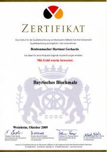Bonbonmacher - Zertifikat Bayrisches Blockmalz
