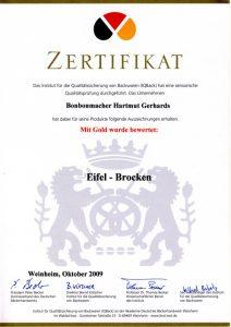 Bonbonmacher Zertifikat Eifelbrocken