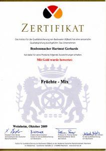 Bonbonmacher Zertifikat Früchtemix