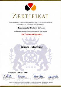 Bonbonmacher Zertifikat Wiener Mischung